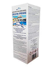 Delfin Prime - Bezchlorowy preparat do dezynfekcji wody w basenach kąpielowych i fontannach.